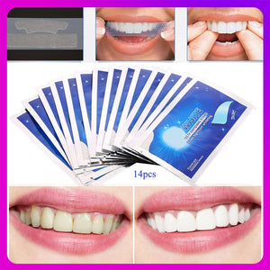 7/14Pairs Teeth Whitening Strips Stain Removal White Gel Tooth Dental kit Oral Hygiene Care Clean Strip Dental Bleaching Tools