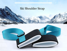 Load image into Gallery viewer, Nylon Skiing Bags Adjustable Skiing Pole Shoulder Hand Carrier Lash Handle Straps Porter Hook Loop Protecting For Ski Snowboard