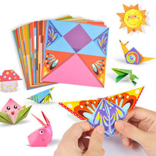 Load image into Gallery viewer, 96pcs/set Kids cartoon color paper folding and cutting toys/children kingergarden art craft DIY educational toys