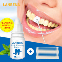 Load image into Gallery viewer, LANBENA Teeth Whitening Essence Powder Oral Hygiene Cleaning Serum Removes Plaque Stains Tooth Bleaching Dental Tools Toothpaste