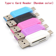 Load image into Gallery viewer, 2in1 Micro USB OTG Card Reader Universal USB TF/SD Card Reader Phone Extension Headers Micro SD Card Adapter for Android PC