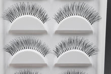 Load image into Gallery viewer, 5 Pairs Natural Black Long Sparse Cross False Eyelashes Fake Eye Lashes Extensions Makeup Tools
