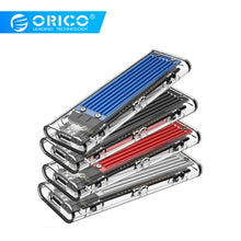 Load image into Gallery viewer, ORICO M2 SSD Case NVME SSD Enclosure M.2 to USB Type C Transparent Hard Drive Enclosure for NVME PCIE NGFF SATA M/B Key SSD Disk