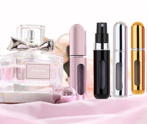 MUBTF - 5ml Refillable Mini Perfume Spray Bottle Aluminum Spray Atomizer Portable Travel Cosmetic Container Perfume Bottle