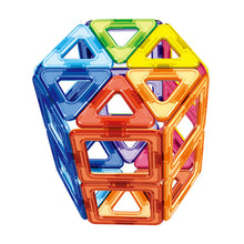 Load image into Gallery viewer, 30PCS Triangle Square Magnetic Building Blocks 3D Stacking Bricks Building Construction Magnet Jigsaw Model Educational Toy