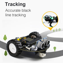 Load image into Gallery viewer, 1Set Micro:bit Graphical Programming Robot Mobile Platform Smart Car V4.0 Support Line Patrol Ambient Light Accessories