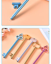 Load image into Gallery viewer, Retro Key Neutral Pen Student Cartoon Cute Signing Writing Pen Creative Plastic Fountain Pens  Office Stationery