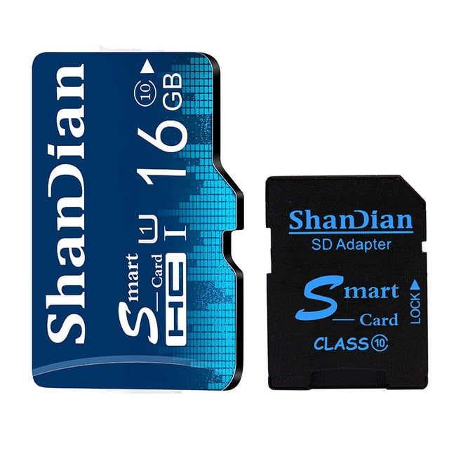 SHANDIAN TF Card 16GB 32GB 64GB Class 10 Memory Card 4GB 8GB Class 6 Smart SD Card TF Card Real Capacity For Phones/Camera