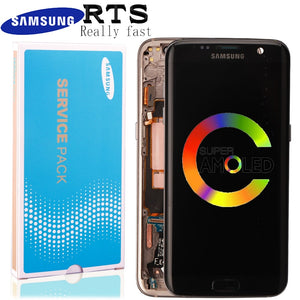 A+ No Burn Shadow 5.5'' Display Super Amoled LCD + frame for Samsung Galaxy s7 edge G935 G935F Touch Screen Digitizer Assembly