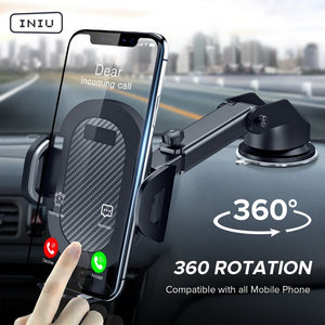 INIU Sucker Car Phone Holder in Car Clip Air Vent Mount No Magnetic Cell Stand Support Mobile Smartphone For iPhone Xiaomi