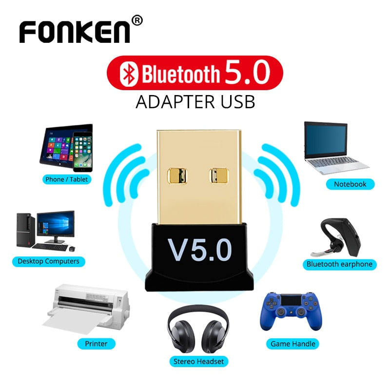 Wireless Bluetooth 5.0 Adapter Audio USB Receiver Transmitter for PC Computer