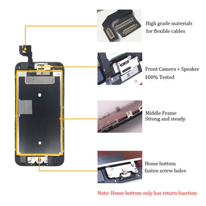 AAA+ LCD For iPhone 6 6Plus 6S Plus LCD Full Assembly Complete With 3D Touch Screen Replacement Display for iphone 5S LCD Camera