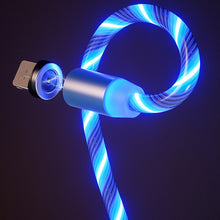 Load image into Gallery viewer, 1m Magnetic charging Mobile Phone Cable USB Type C Flow Luminous Lighting Data Wire for Samaung Huawei LED Micro Kable