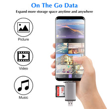 Load image into Gallery viewer, GOOJODOQ Card Reader Micro USB 2.0 Type C to SD Micro SD TF Adapter Accessories OTG Cardreader Smart Memory SD Card Reader