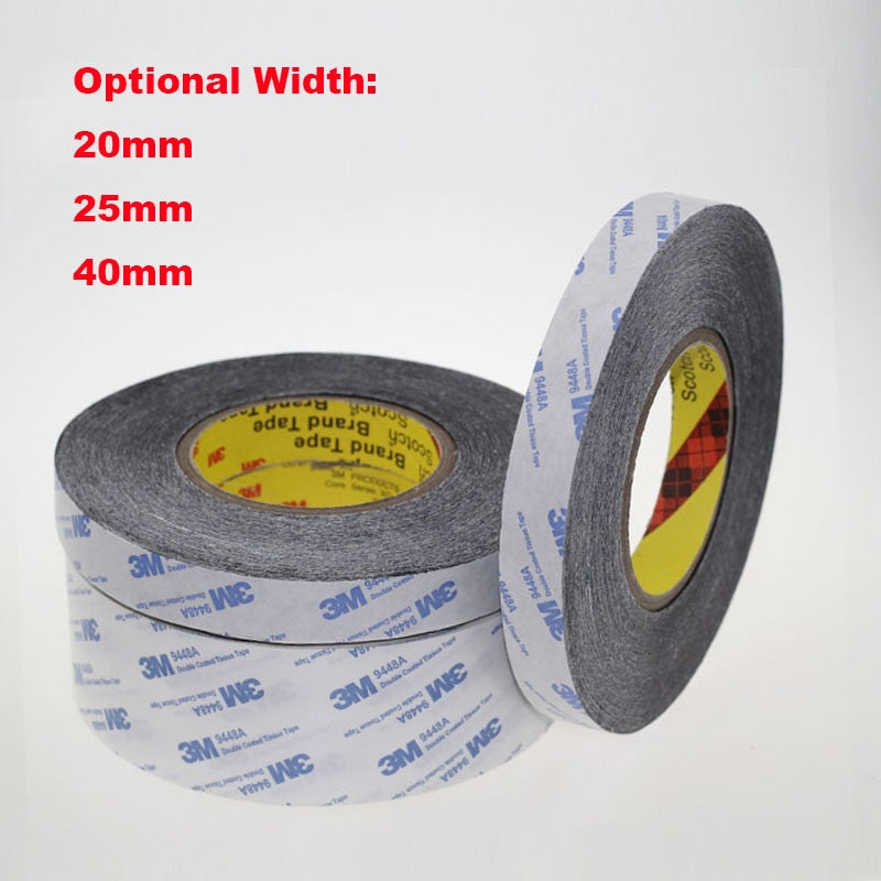 1 Meter 20mm 25mm 40mm Width 3M9448A Double Coated Tissue Tape Thermally Conductive Adhesive thermal pad for heat sink radiator