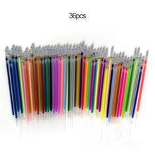 Load image into Gallery viewer, 1.0mm Colorful Gel Pen Fluorescent Refills Color Cartridge Flash Pen Smooth Ink Painting Graffiti Pens Student Stationery