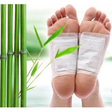 Load image into Gallery viewer, 20pcs=(10pcs Patches+10pcs Adhesives) Detox Foot Patches Pads Body Toxins Feet Slimming Cleansing HerbalAdhesive Hot FB02