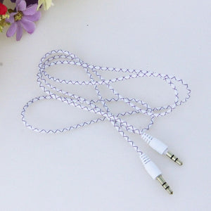 MOONBIFFY Aux 3.5 mm Jack Male to Male Extension Audio Stereo Car Cable Cord For iPhone iPod