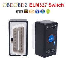 Load image into Gallery viewer, Super Mini ELM327 Bluetooth ELM 327 Power Switch V2.1 On/Off Button OBD2 Car Diagnostic Tool Multi-Languages For OBDII Protocols