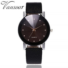 Load image into Gallery viewer, Vansvar Women Watch Luxury Brand Casual Simple Quartz Clock For Women Leather Strap Wrist Watch Reloj Mujer ping