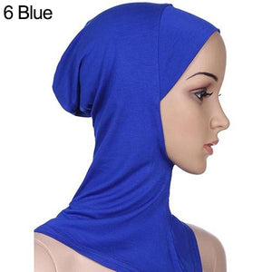 Soft Muslim Full Cover Inner Women's Hijab bonnet Cap Islamic Underscarf Neck Head Bonnet Hat 6YQA