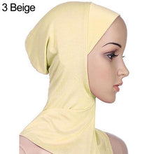 Load image into Gallery viewer, Soft Muslim Full Cover Inner Women's Hijab bonnet Cap Islamic Underscarf Neck Head Bonnet Hat 6YQA