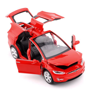 New 1:32 Tesla MODEL X Alloy Car Model Diecasts & Toy Vehicles Toy Cars Kid Toys For Children Gifts Boy Toy
