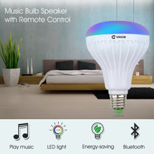 Load image into Gallery viewer, VONTAR E27 B22 Wireless Bluetooth Speaker+12W RGB Bulb LED Lamp 110V 220V Smart Led Light Music Player Audio with Remote Control
