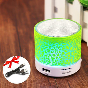 GETIHU Wireless Portable Bluetooth Speaker Mini LED Music Audio TF USB FM Stereo Sound Speaker For Phone Xiaomi Computer column