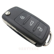 Load image into Gallery viewer, 3 buttons Folding Car key Switchblade Key Flip key Shell for VW polo passat b5 Tiguan Golf VOLKSWAGEN Seat Skoda auto key blank