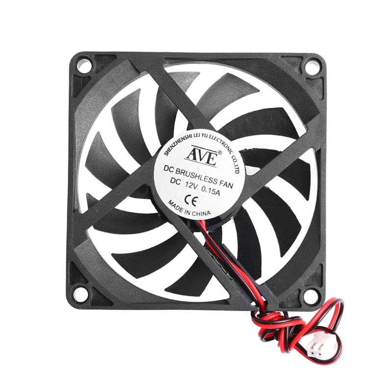 12V Cooler Fan for PC 2-Pin 80x80x10mm  Computer CPU System Heatsink Brushless Cooling Fan 8010