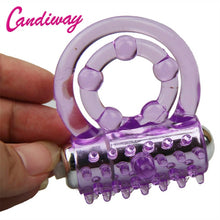 Load image into Gallery viewer, CandiWay mini Vibrators rings double cockring Delay Premature Ejaculation penis ball loop lock Sex Toys product for Men