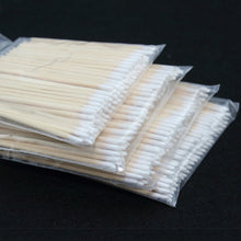 Load image into Gallery viewer, 100pcs Wooden Cotton Swab Cosmetics Permanent Makeup Health Medical Ear Jewelry 7cm Clean Sticks Buds Tip