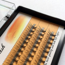 Load image into Gallery viewer, Natural long Individual Flare Lashes Cluster False Eyelashes 60 bundles/boxes