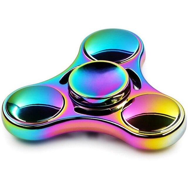 Hot Colorful Rainbow Fidget Spinner Spinner Metal Hand Spinner For Autism Rotation Anti Stress Toys for Children