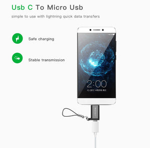 USB Type C Male to Micro USB Female Adapter USB Type-C Support OTG For Xiaomi 4C /LeTV /Huawei /HTC Oneplus LG Tablet