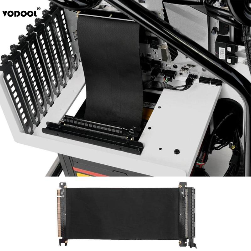 VODOOL 24cm High Speed PC Graphics Cards PCI Express Connector Cable Riser Card PCI-E 16X Flexible Cable Extension Port Adapter