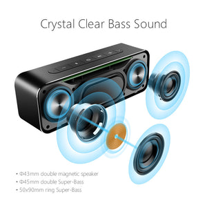 MIFA Metal Portable 30W Bluetooth Speaker With Super Bass Wireless speaker Bluetooth4.2 3D Digital Boombox Column loudspeaker