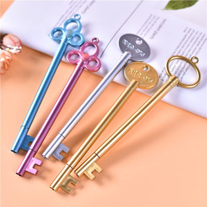 Retro Key Neutral Pen Student Cartoon Cute Signing Writing Pen Creative Plastic Fountain Pens  Office Stationery