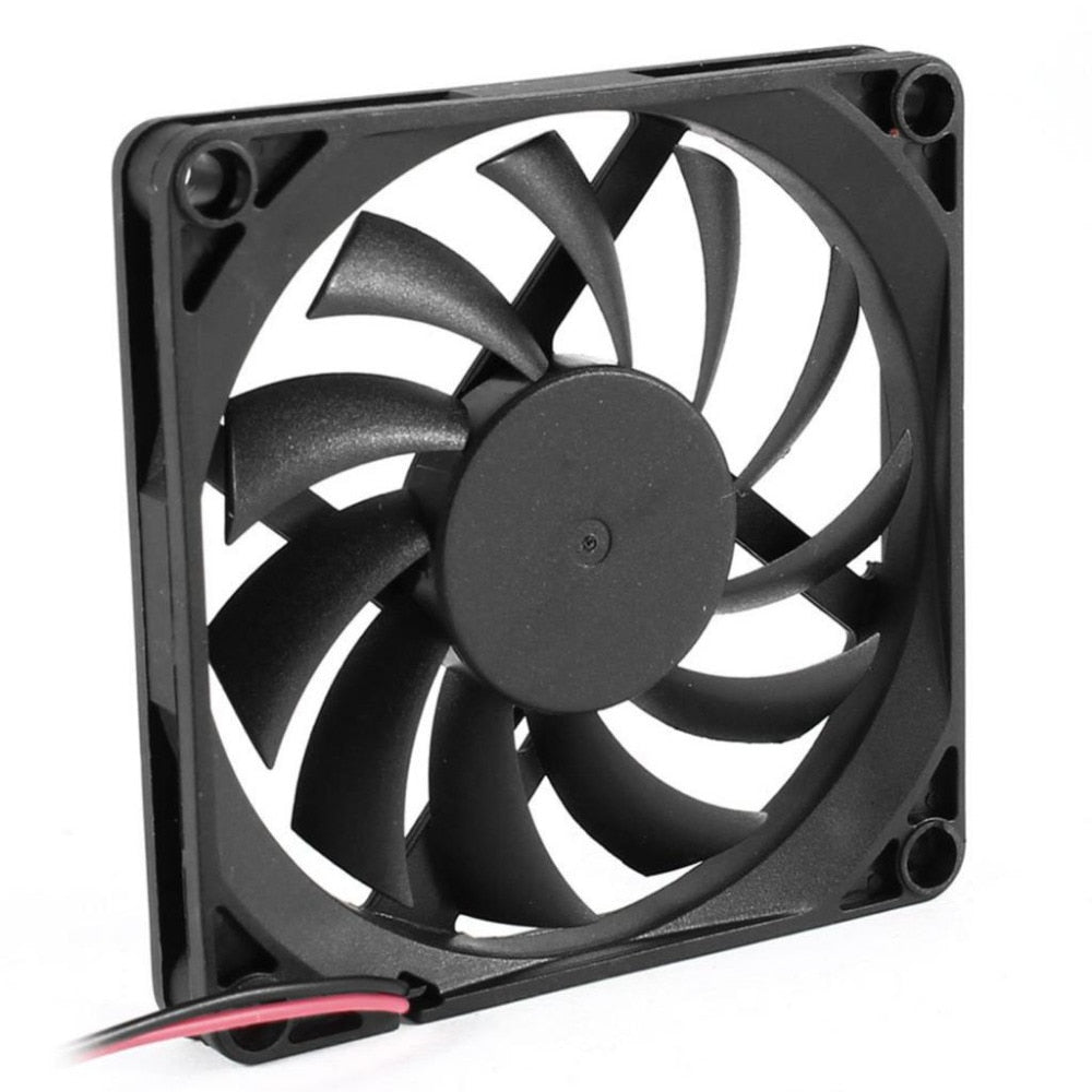 YOC Hot 80mm 2 Pin Connector Cooling Fan for Computer Case CPU Cooler Radiator