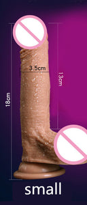 Super Soft Silicone Dildo Realistic Suction Cup Dildo Male Artificial Penis Dick Female Masturbator Adult Sex Toys For Women