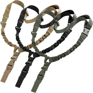 Heavy Tactical One 1 American Single Point Sling Adjustable Bungee Rifle Shoulder strap length for Air-soft