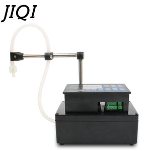 JIQI Electrical liquids filling machine MINI bottled water filler Digital Pump For perfume drink water milk olive oil 110V 220V
