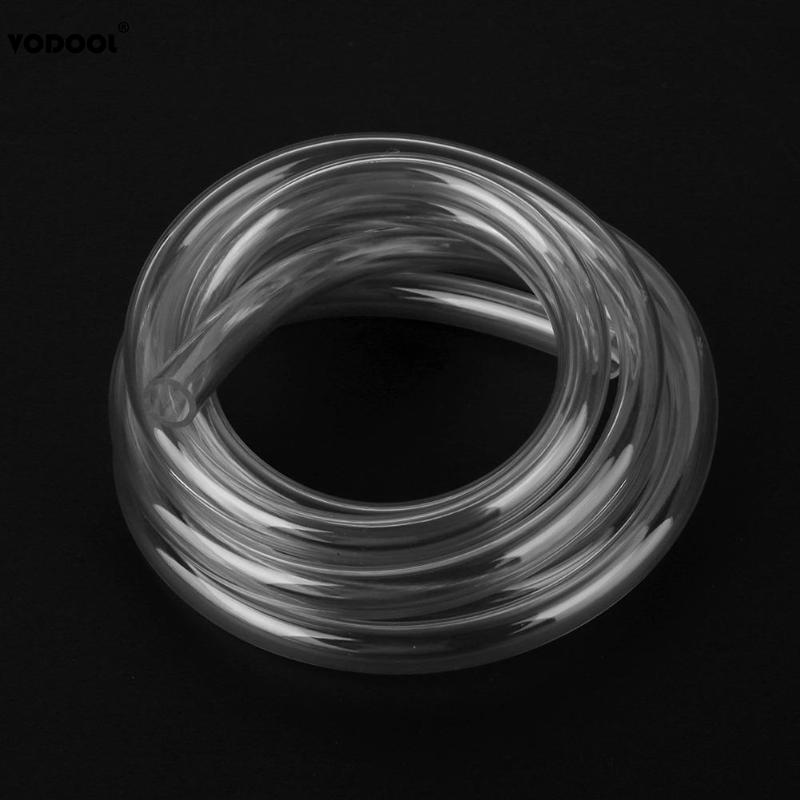 VODOOL 2m/6.56FT 9.5X12.7mm Transparent PVC Pipe Tube Computer PC Water Cooling Soft Pipe CPU GPU Water Cooling Block Adapter
