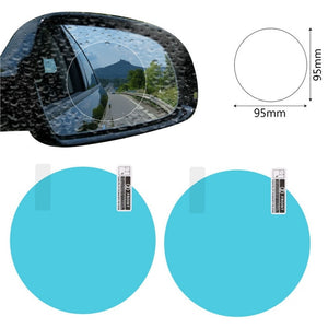 2PCS/Set Anti Fog Car Mirror Window Clear Film Anti-glare Car Rearview Mirror Protective Film Waterproof Rainproof Car Sticker