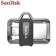 Load image into Gallery viewer, Sandisk Pendrive OTG Micro Usb 32GB U Disk DUAL DRIVE 16GB USB Flash Drive 128GB Memory Stick USB 3.0 64GB High Quality