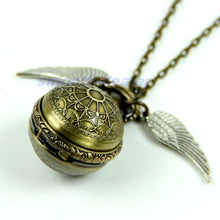 Load image into Gallery viewer, Antique Vintage Spider Web Ball Wing Necklace Pendant Quartz Pocket Watch Gift