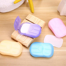 Load image into Gallery viewer, Convenient Washing Hand Wet Wipes Travel Paper Soap Scented Slice Sheets Foaming Box