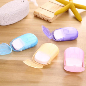 Convenient Washing Hand Wet Wipes Travel Paper Soap Scented Slice Sheets Foaming Box