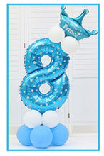Load image into Gallery viewer, 16pcs/pack Pink Blue 0-9 Numbers Large Helium Number Foil Children Festivals Dekoration Birthday Party Toy hat for Kids